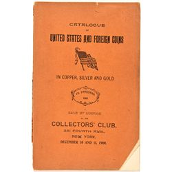 NY, New York City--Ed. Frossard Silver Copper and Gold Coins Catalog