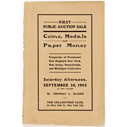 NY, New York City--Elder First Auction Sale Catalog