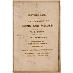 PA, Philadelphia--Chapman Catalog of W. S. Sisson and L. H. Fahnestock Collections