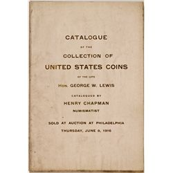 PA, Philadelphia--Chapman Catalog of Hon. George H. Lewis Collection