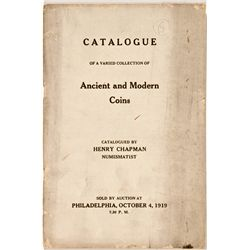 PA, Philadelphia--Chapman Catalog of Ancient and Modern Coins