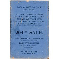 NY, New York City--Lyman H. Low Sale Catalog 204