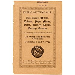 NY, New York City--Thomas Elder Catalog of Armstrong, Chase, and Other Collections