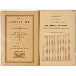 TX, Fort Worth--B. Max Mehl Catalog of Titus, Johnson, and Reamer Collections