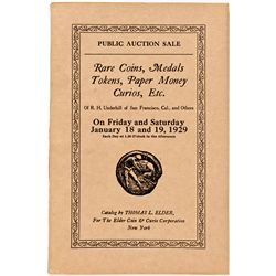 NY, New York City--Thomas Elder Catalog of R.H. Underhill Collection