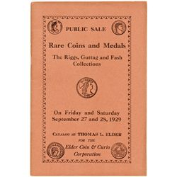 NY, New York City--Thomas Elder Catalog of Riggs, Guttag and Fash Collections