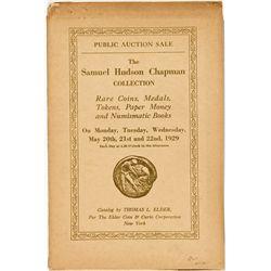 NY, New York City--Thomas Elder Catalog of Samuel Hudson Chapman's Collection