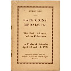 NY, New York City--Thomas Elder Catalog of Fash, Atkinson, and Perkins Collections