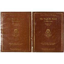 Virgil M. Brand Collection American Coins Part I & II Catalogs