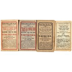 MO, St. Louis--St. Louis Stamp & Coin Co. Fixed Price Lists
