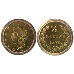 """Goofy"" Liberty Head/Value and Date in Wreath, BG-1047 (1870)."