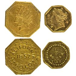 BG-102 Octagon 1/4 Dollar and Gold Charm