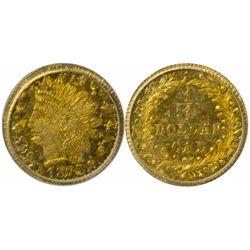 ¼ Dollar 1873 BG-874, Double Struck PCGS-62
