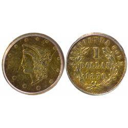 "BG-1205 ""Goofy"" Head California Gold $1"