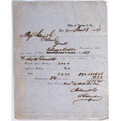 CA, San Francisco--Adams & Company Assay Receipt