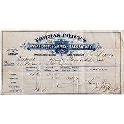CA, San Francisco--Thomas Price Assay Sheet