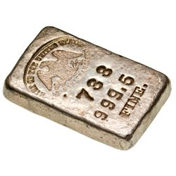 CA, San Francisco--US Mint at San Francisco Silver Assay Ingot