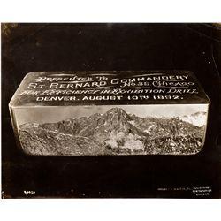 CO, Denver--Albumen Photo of St. Bernard Commandery Ingot