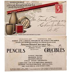 NJ, Jersey City-Hudson County-Assay Supply Company J. Dixon Crucibles Cover & Receipt