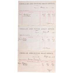 NV, Virginia City-Storey County-Chollar and Potosi Assay Receipts