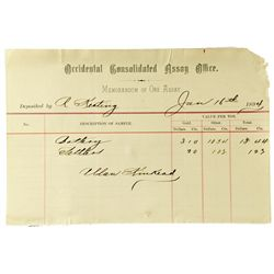 NV, Virginia City-Storey County-Occidental Consolidated Assay Office