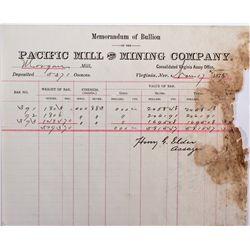 NV, Virginia City-Storey County-Pacific Mill Assay Memorandum