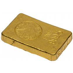 NY1943 New York Assay Office Gold Ingot 11.27 Troy Ounces