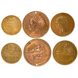 CA, San Francisco--PPIE Souvenir Pennies