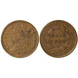 1811 Half Cent Normal Date, EF Details