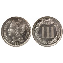 1889 Three Cent Nickel PF67 NGC