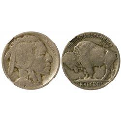 1918/7 Buffalo Nickel (Overdate) VG Details NGC
