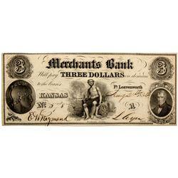 KS, Ft. Leavenworth--Merchants Bank Currency