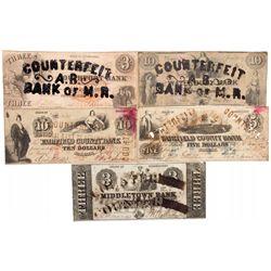 CA, Norwalk Norwalk-Fairfield County-Civil War Counterfeit Bills