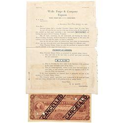 NY, New York--Wells Fargo & Co. Express Letterhead & Money Order Sample