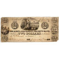 OH, Kirtland--The Kirtland Safety Society Bank $2 Anti-Banking