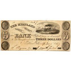 OH, Kirtland--The Kirtland Safety Society Bank $3 Anti-Banking