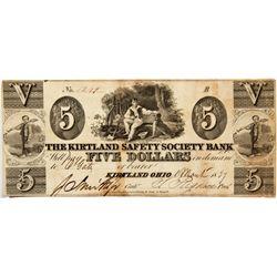 OH, Kirtland--The Kirtland Safety Society Bank $5