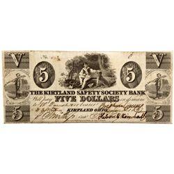 OH, Kirtland--The Kirtland Safety Society Bank $5 Countersigned