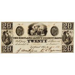 OH, Kirtland--The Kirtland Safety Society Bank $20