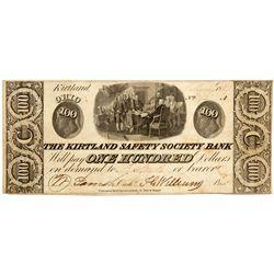 OH, Kirtland--The Kirtland Safety Society Bank $100