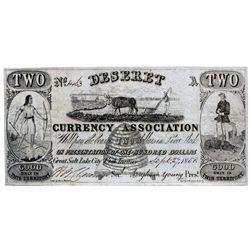 UT, Salt Lake City--Deseret Currency Association Type 2