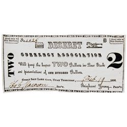 UT, Salt Lake City--Hofmann Counterfeit / Deseret Currency Association $2