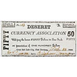 UT, Salt Lake City--Hofmann Counterfeit / Deseret Currency Association $50