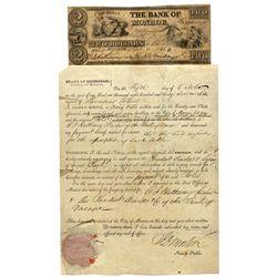 MI, Monroe--Bank of Monroe $2 and Legal Document
