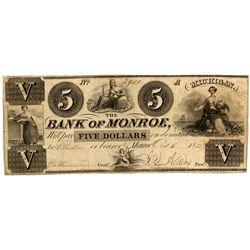 MI, Monroe--Bank of Monroe $5