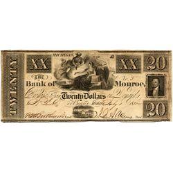 MI, Monroe--Bank of Monroe $20