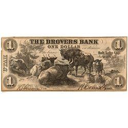 UT, Salt Lake City--The Drovers Bank Note