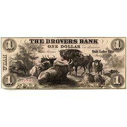 UT, Salt Lake City--Drovers Bank $1