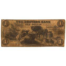 KS, Leavenworth--Drovers Bank $1