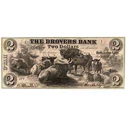 UT, Salt Lake City--Drovers Bank $2